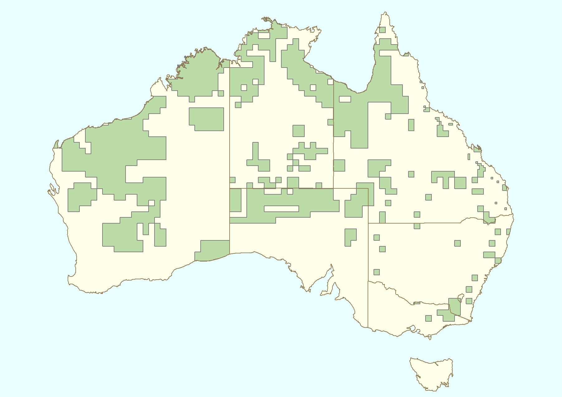 オーストラリアブランビー分布図